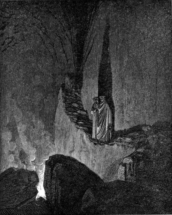 An+engraving+by+Gustave+Dor%C3%A9+illustrating+Canto+XXVI+of+the+Divine+Comedy.+%E2%80%9CThe+Flaming+Spirits+of+the+Evil+Counsellors%E2%80%9D.
