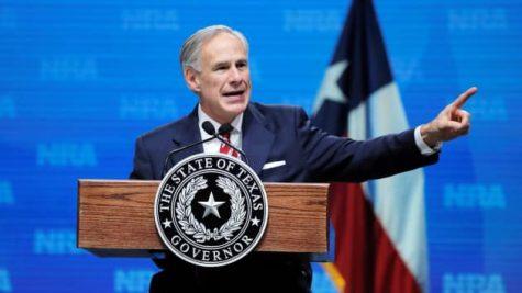 Texas Governor Greg Abbott speaks in Dallas, Texas.