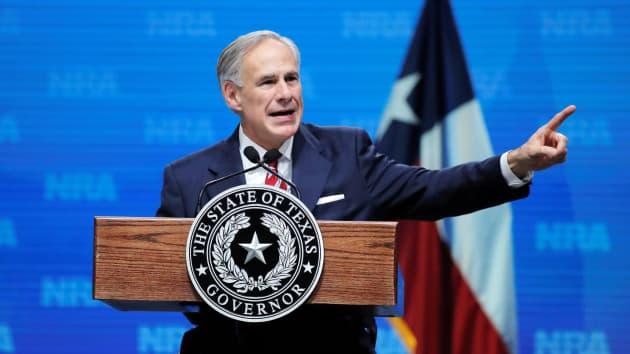 Texas+Governor+Greg+Abbott+speaks+in+Dallas%2C+Texas.+
