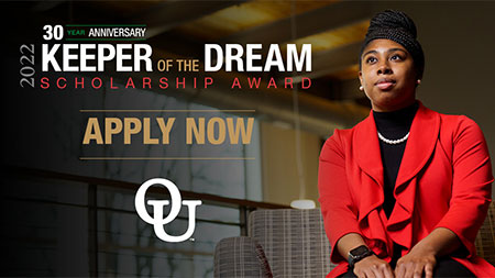 The scholarship recognizes OU students who have contributed to interracial understanding and goodwill.