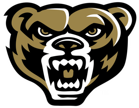 The current logo for Oakland University, the Golden Grizzly.