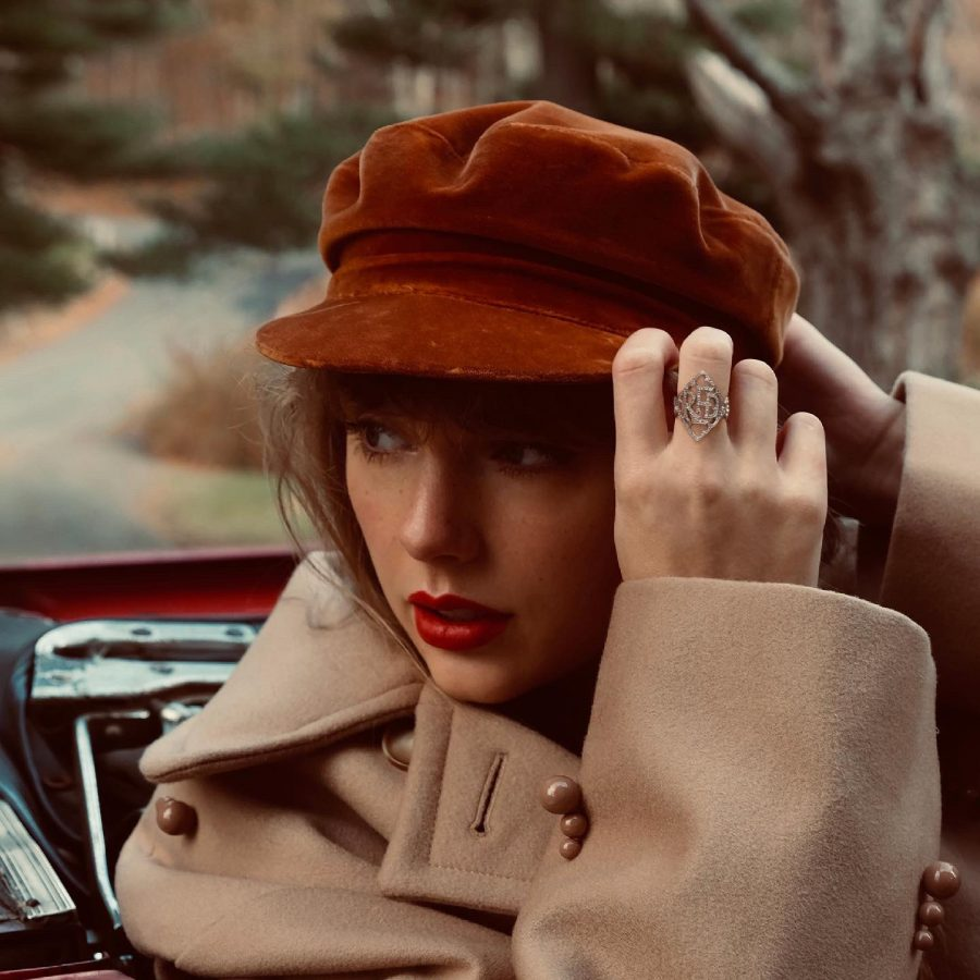 """With cool heartstring-tuggers like """"All Too Well"""" and """"Begin Again"""" in tow, Taylor Swifts Red is the feeling of wind pinkening cheeks and boots crushing leaves in sonic form."""