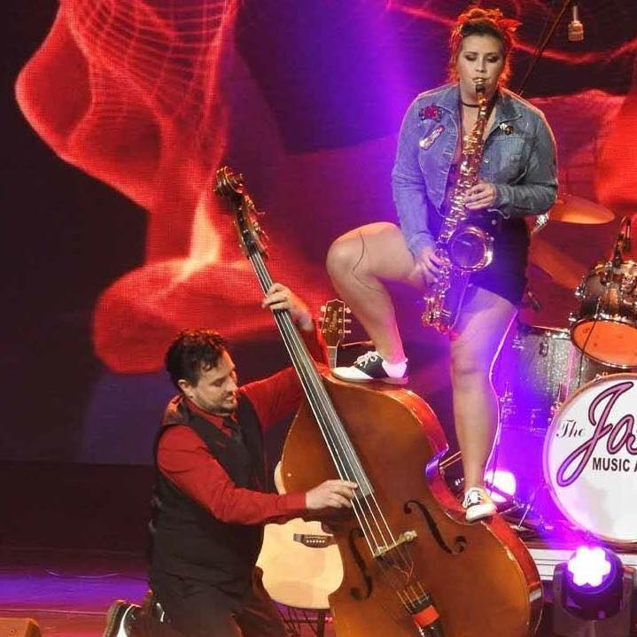 OU music education student Paige Grider is the saxophonist in the band Rio and the Rockabilly Revival. The band has been nominated for numerous Josie Music Awards.