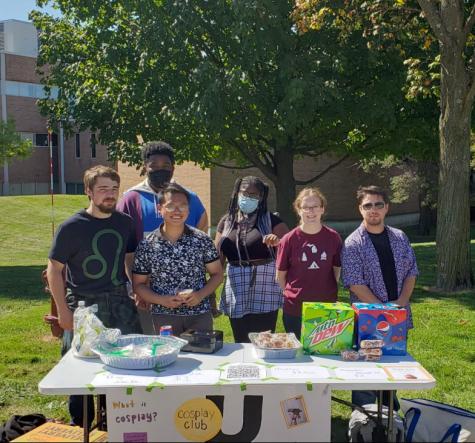 Members of OUs Cosplay Club at their bake sale last week.