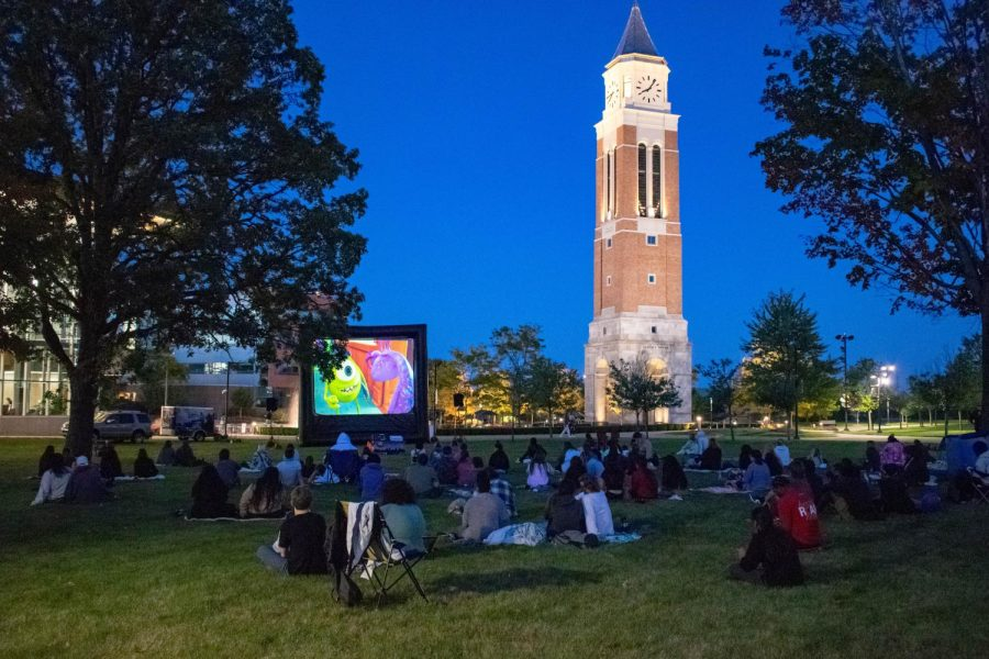 Student Program Board (SPB) hosting Movie Night on the Lawn featuring Monsters University.