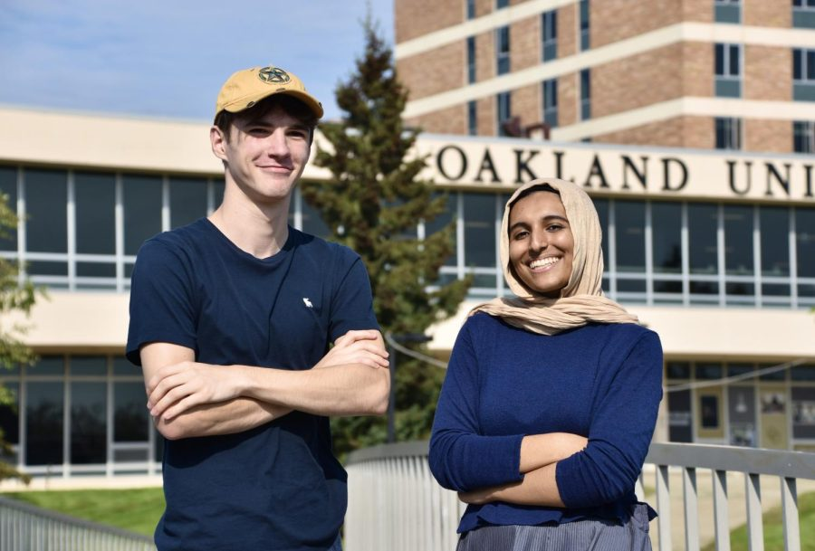 Presidential and vice presidential candidates Andrew Romano and Murryum Farooqi.