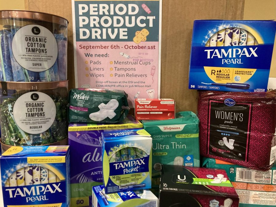 The AAUW at OU is hosting a menstrual product drive through Oct. 31. The drive is an effort to promote menstrual equality.
