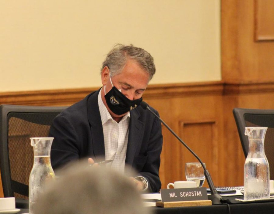 Chair of the Board of Trustees Robert Schostak at the most recent board formal session on Aug.12, 2021.