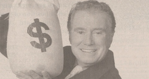 Regis Philbin (pictured here) hosted Who Wants to be a Millionaire? circa 2000.