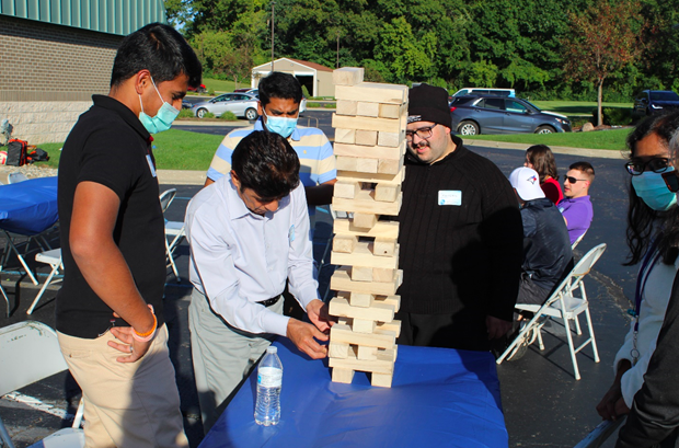 International students partake in activities at the Welcome Event